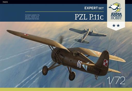 PZL P.11c Arma Hobby boxart