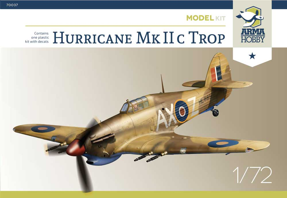 Hurricane Mk IIc Trop Arma Hobby boxart