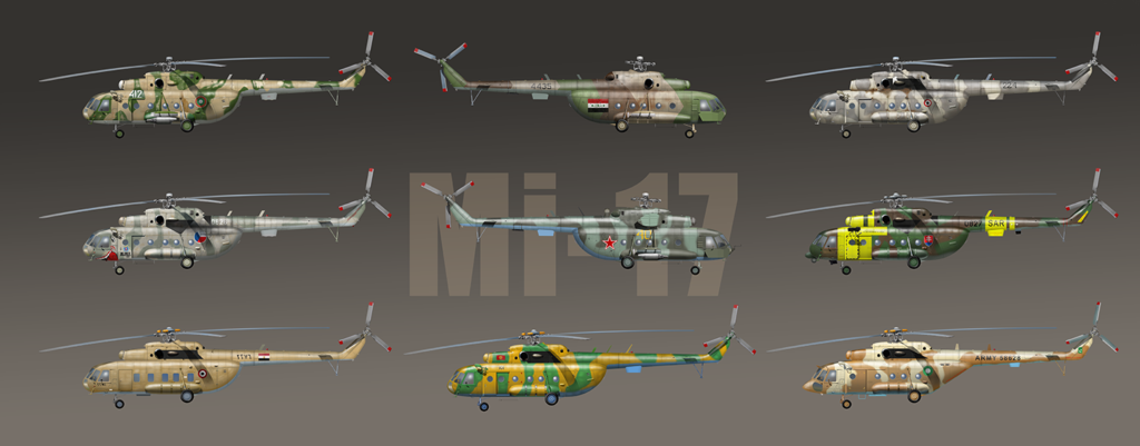 Mi-17 helicopters