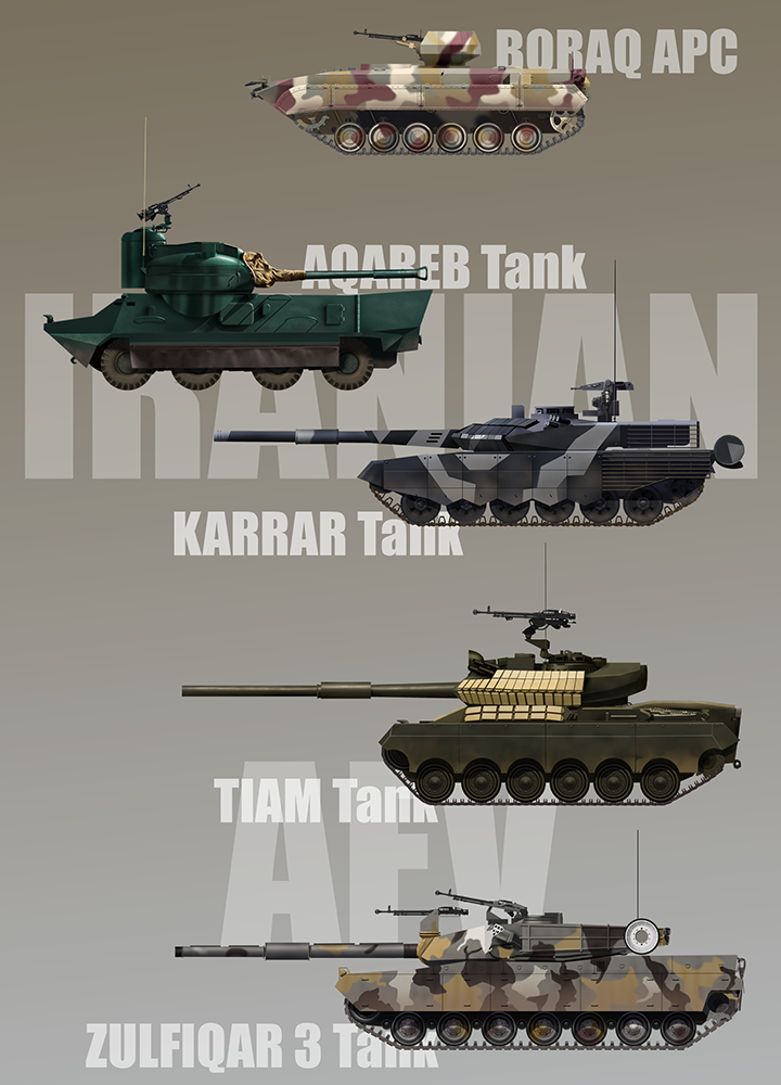 Iranian tanks