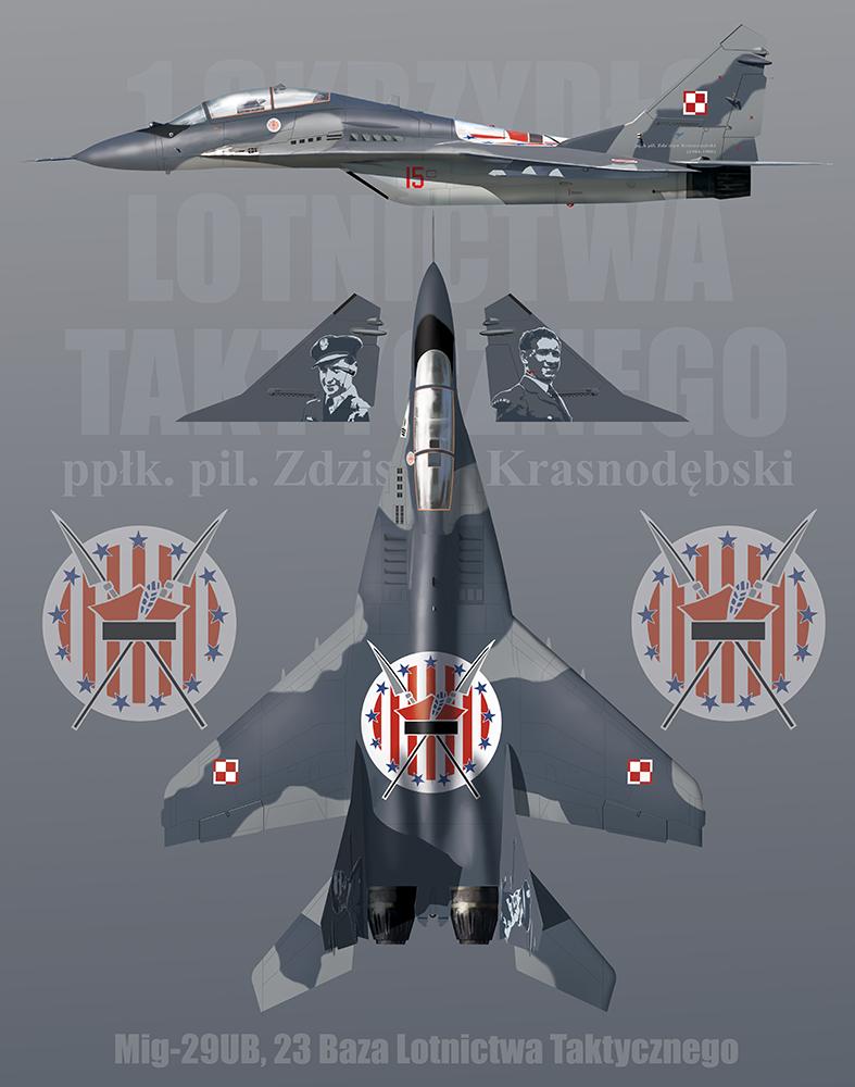 MiG-29UB 23 Baza Lotnictwa Taktycznego profile