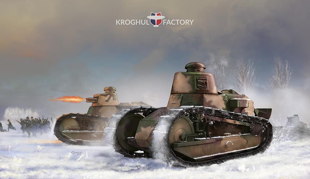 Bitwa pod Dyneburgiem, czołgi Renault FT